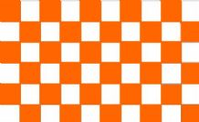 CHECKERED WHITE & TANGERINE - 5 X 3 FLAG